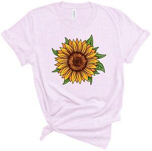Sunflower Shirt Super Soft T Shirt Sun Flower Inspirational Unisex Tee S-3XL