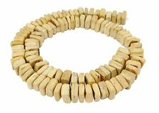 Coconut Beads Square Nuggets Approx. 9x3-5 mm Nature Wooden Beads Cord