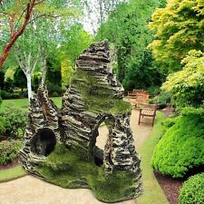 Resin Aquarium Rockery Ornament Mountain Cave Stone Fish Tank Pond Garden Decor