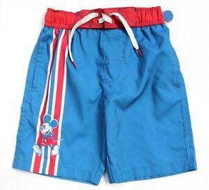 Disney Junk Food Boys' Mickey Mouse Swim Trunks Blue & Red Size S
