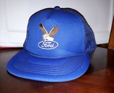 Ford Automobile Car Vintage Trucker Cap Snap Back Used Hat Read See Pics