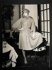 70s Fashion VINTAGE Oversize DBW PHOTO Signed By Harry Langdon OS103