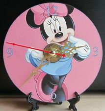 Brand New Minnie Cartoon Character Mouse CD Clock Nice!! Kids