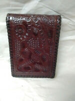 Vintage Hand Tooled Leather wallet billfold