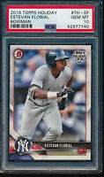PSA 10 ESTEVAN FLORIAL 2018 Topps Bowman Holiday #TH-EF Yankees RC GEM MINT RARE