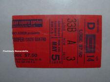 ALICE COOPER / SUZIE QUATRO 1975 Concert Ticket Stub MADISON SQUARE GARDEN Rare