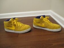 Used Worn Size 11 Nike Mavrk Mid II Shoes Gold Purple White Lakers