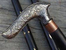 """36"""" Long Brass Designer Handle Antique Style Wooden Walking Stick Vintage Cane"""