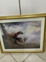 Print Of Painting By Raune Manning - Lions