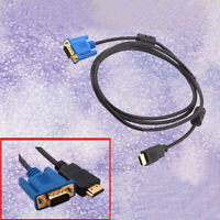 1080P HDMI Male to VGA M Video Converter Adapter Cable for PC DVD HDTV 1.8M/6FT