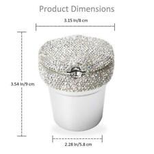 Diamond Car Travel Cigarette Cylinder Ashtray Holder Cup Colorful LED Light Home