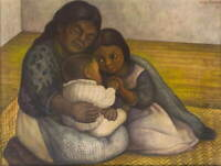Diego Rivera The Family Giclee Canvas Print Paintings Poster LARGE SIZE