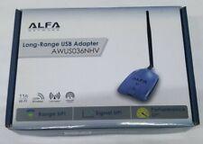 Used  Alfa AWUS036NHV 802.11n Long Range Realtek WIRELESS-N USB Wi-Fi adapter