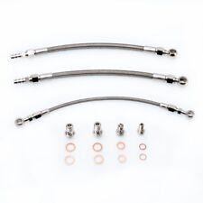 Turbo Oil Water Line Kit Fit Mitsubishi 4G63T EVO 4~9 w/ Garrett GT3076R GT3071
