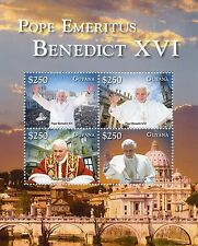 Guyana 2014 neuf sans charnière Pape émérite Benoît XVI 4V m / s