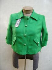 NYGARD Womens Linen Rayon Jacket Blazer Dress Coat 8 P 8P Button Lined Green $89