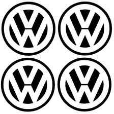 4x VW Logo Decalcomania Adesivo Vinile Grafica 75 mm Golf Passat Beetle GHIA