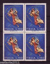 ITALIA 1972 - NATALE - NOEL - CHRISTMAS  - QUARTINA LIRE 150 MNH ** - A42