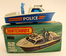 Matchbox Superfast No. 52 Police Launch in Box