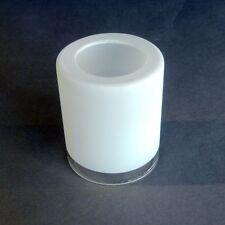 Replacement Glass 6534 Wofi Marin Painted White Plain Edge Umbrella Cylinder