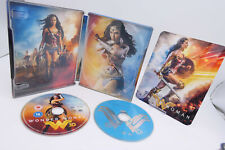 WONDER WOMAN Steelbook Blu Ray 2D+3D HMV Exclusive + Interior Art & Magnet Cover
