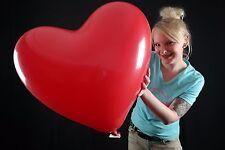 """1 x großer 20"""" HERZ-BALLON in ROT Globos Ø50cm * LOVE * HOCHZEIT * WEDDING *"""