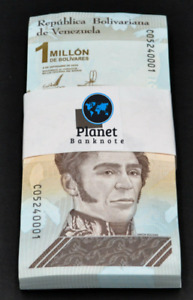 Venezuela 1 Million Bolivares 2020 New Unc. Pack of 100 Commemorative Banknotes