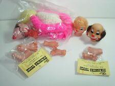 VINTAGE Crochet YoYo THE Clown Doll SUPPLIES CRAFTS HEAD Face FEET Hands