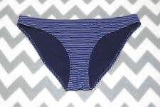 H&M ~ LADIES 2 TONE BLUE STRIPE HIPSTER BIKINI SWIMWEAR BRIEFS ~ SIZE 12 / EU 38