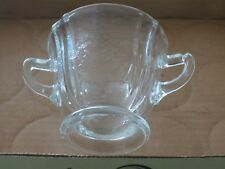 5- Madrid Pattern Two Handled  Glass Clear Cup