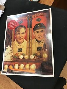 1993 Christy Mathewson & Ty Cobb 14x11 Inch Color Print First Edition Sealed