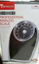 Detecto Chrome Professional Analog Bathroom Scale, D503