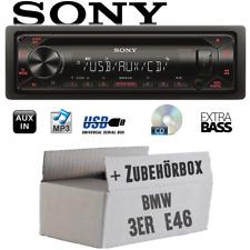 Autoradio Sony CD/MP3/USB Auto PKW KFZ Einbauzubehör für BMW 3er E46 1998-2007