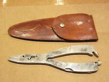 """Solingen Germany Fishermen's Multi Tool Pliers w Sheath HOLLMO 7.5"""" long"""