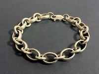 Vintage Sterling Silver Large Chain Link Bracelet