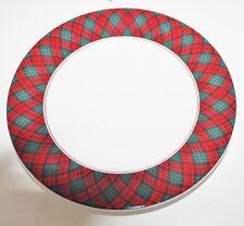 "Tartan Plaid Red Sasaki Charles Roberts Japan Salad Lunch Plate 7 5/8"" EUC"