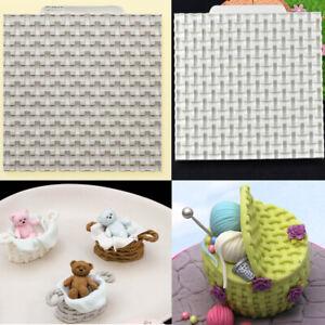 3D Knitting Basket Silicone Cake Fondant Border Decorating Mould Sugarcraft Mold
