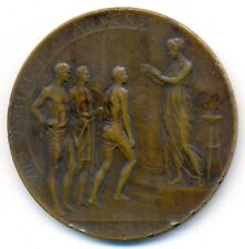 Antwerp Olympic Games 1920 Official Participation Bronze Medal 60 mm RARE