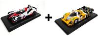 Lot de 2 Voitures 24H du Mans Toyota + Porsche - 1/43 Spark Miniature LM02