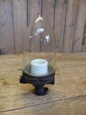 alte Glaskolben Lampe Bakelit gemarkt DGRM Riden aus alter Werkstatt