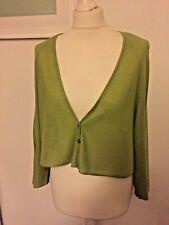 Doris Streich green cropped cardigan size 20