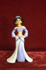 "Disney porcelain figurine of Jasmine from the film Aladdin 6"" tall & 3 1/2"" long"