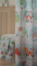 """NWT St. Nicholas Square """"Oh What Fun!"""" Fabric Shower Curtain 70 in x 70 in"""