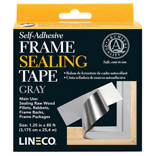 "GRAY Frame Sealing Tape 1.25"" X 85' Self Adhesive, by LINECO,  (bin 302A)"