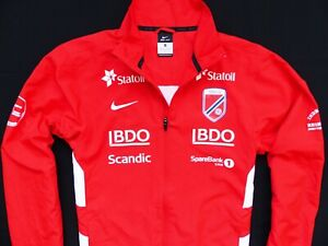 MEN'S RED NIKE TEAM NORWAY NORGE CROSS COUNTRY SKI SKIING JACKET SIZE: S (SMALL)