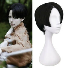 Attack on Titan Levi Rivaille Rival Ackerman Cosplay Wig Short Black Party Hair