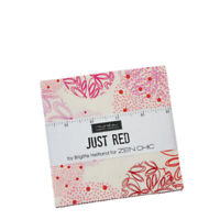 "CHARM PACK~JUST RED~MODA FABRICS~42-5"" SQUARES~ZEN CHIC~REDS PINKS~1700PP"