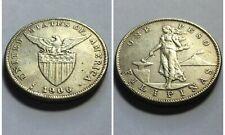 PHILIPPINES Original Silver Altered Into A 1906s 1 Peso Coin