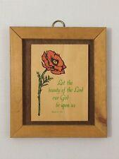 Christian Spiritual Wall Hanging Wooden Plaque Psalm 90 - Decorative Art  Rose