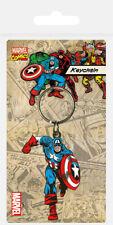 Marvel Comics Captain America Rubber Keychain Keyring